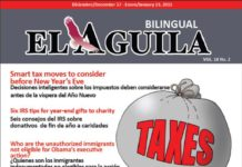 El Aguila News Digital Edition December - January 2015 Cover